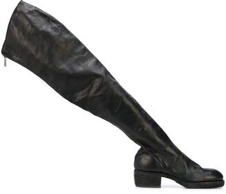 Guidi zipped thigh high boots