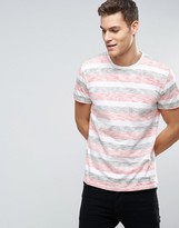 Solid T-shirts In Multi Stripe