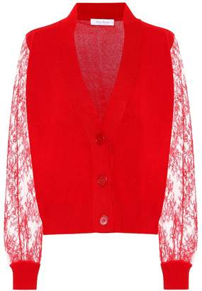 Roche Ryan Lace-trimmed cashmere cardigan