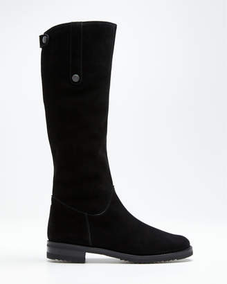 Gravati Suede Fur-Lined Tall Riding Boots
