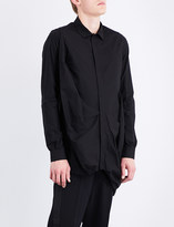 Rick Owens Smash regular-fit cotton-poplin shirt