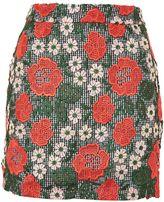 Topshop PETITE Red Rose Lace Mini