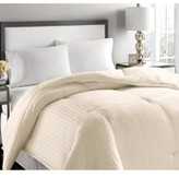 Blue Ridge 500-Thread Count Damask Stripe Full/Queen White Down Comforter