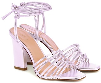AEYDĒ Daisy metallic leather sandals