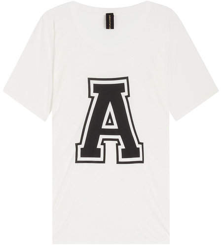 Alexandre Vauthier Printed T-Shirt with Silk