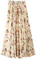 Aivtalk Ladies Elastic Waist Skirt Womens Floral Long Skirt Print Midi Skirt for Women