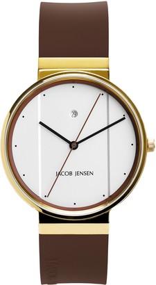 Jacob Jensen Unisex Analogue Classic Quartz Watch with Rubber Strap JJ758