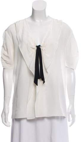 Miu Miu Silk Bow-Accented Blouse