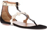 Alaia diamond shaped t-bar sandal