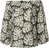 Chloé Three-quarter top with palm-leaf print - women - Cotton/Wool - 36