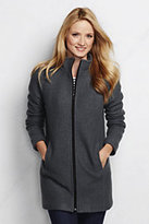 Classic Women's Boiled Wool Parka-Crimson