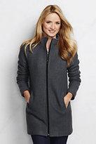 Lands' End Women's Boiled Wool Parka-Fuchsia Plum