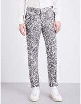 Alexander Mcqueen Regular-fit Tapered Leopard-jacquard Trousers