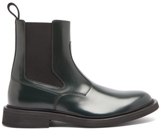 Bottega Veneta Panelled-leather Chelsea Boots - Green