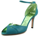 Ernesto Esposito Pretty Girl Women Peep-toe Leather Blue Heels.