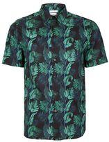 Topman Corsica Print Liberty Fabric Short Sleeve Dress Shirt