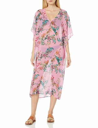 Johnny Was Women's Pink Floral Printed Short Kimono