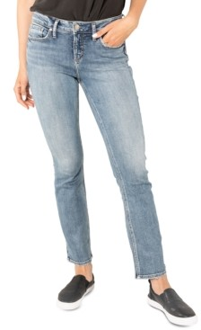 Silver Jeans Co. Suki Mid-Rise Curvy-Fit Straight-Leg Jeans