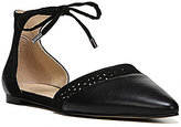 Franco Sarto Shirley d'Orsay Lace-Up Leather Ankle Flats