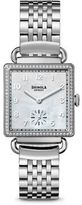 Shinola The Cass Diamond, Mother-Of-Pearl & Stainless Steel Bracelet Watch