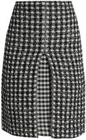 Sonia Rykiel Checked-tweed A-line skirt
