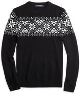 Brooks Brothers Wool Blend Snowflake Fair Isle Sweater