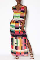 Katherine Barclay Abstract Maxi Dress