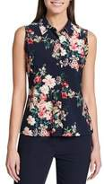 Tommy Hilfiger Floral Sleeveless Button-Down Shirt