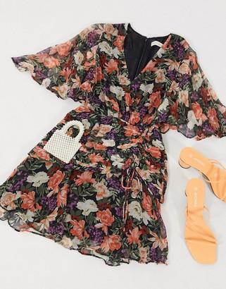 Stevie May serendipity mini dress in dark based floral