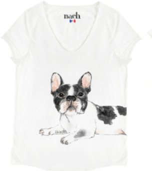 Nach White Bulldog T Shirt - small