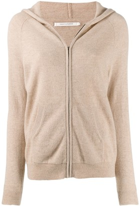 Parker Chinti & cashmere zip up cardigan