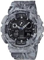 G-shock Ga100 Grey Marbled Resin Watch