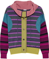 Loewe Striped Wool-blend Sweater - Purple