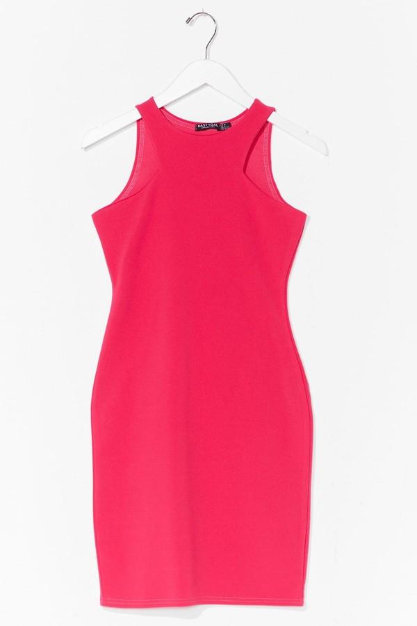 Nasty Gal Womens Cut Out Sleeveless Bodycon Mini Dress - Pink - 14