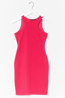 Nasty Gal Womens Cut It Out Bodycon Mini Dress - Hot Pink