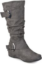 Journee Collection Gray Jester Wide-Calf Boot