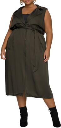 Good American Sleeveless Trench Midi Dress