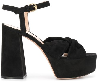 Gianvito Rossi Block Heel Platform Sole Sandals