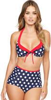 Figleaves Sailor Underwired Halter Bikini Top