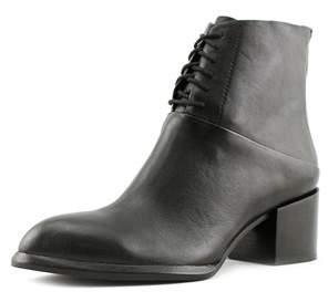 Calvin Klein Jeans Nickia Women Round Toe Leather Black Ankle Boot.