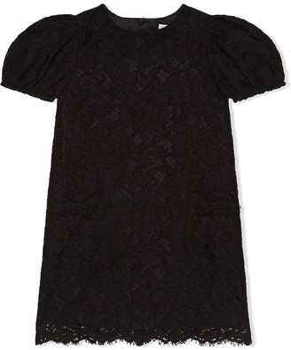 Dolce & Gabbana Kids Floral Lace Shift Dress