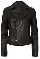 Helmut Lang Tie Leather Jacket