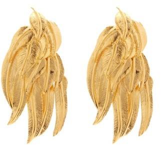 Aurelie Bidermann Wheat Sheaf 18kt Gold-plated Clip Earrings - Womens - Gold