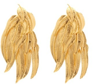 Aurelie Bidermann Wheat Sheaf 18kt Gold-plated Clip Earrings - Gold