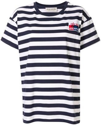 Être Cécile embroidered Breton T-shirt