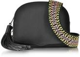 Rebecca Minkoff Black Leather Sunday Moon Crossbody Bag