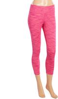 L.A. Gear Bright Pink Space-Dye Capri Leggings