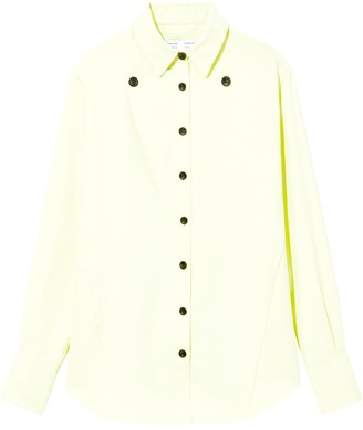 Proenza Schouler White Label Contrast Button Long Sleeve Button Down Shirt