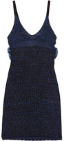 Kenzo Cutout Metallic Knitted Mini Dress - Midnight blue