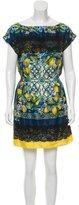 Dolce & Gabbana Spring 2016 Mosaic Lemon Dress